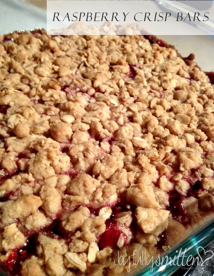 Raspberry Crisp Bars - Joyfully Smitten