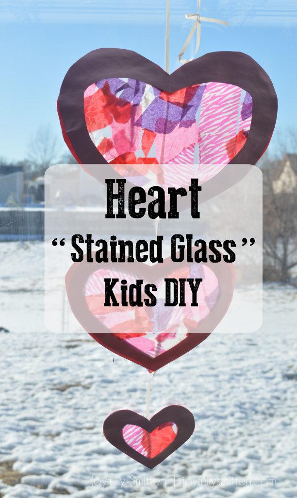 "Heart ""Stained Glass"" Kids DIY"
