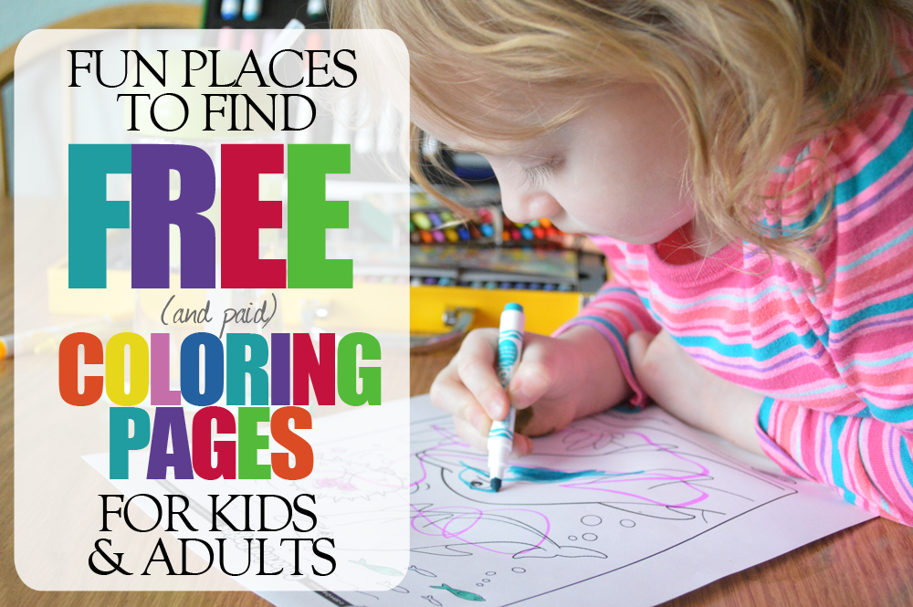 Free Coloring Pages + A Crayola Giveaway