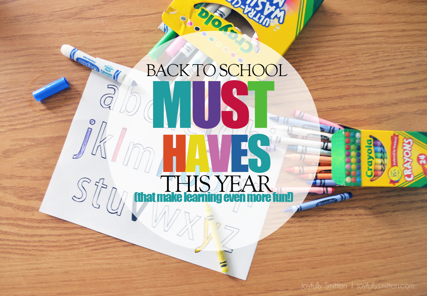 Making Back to School Fun with Crayola