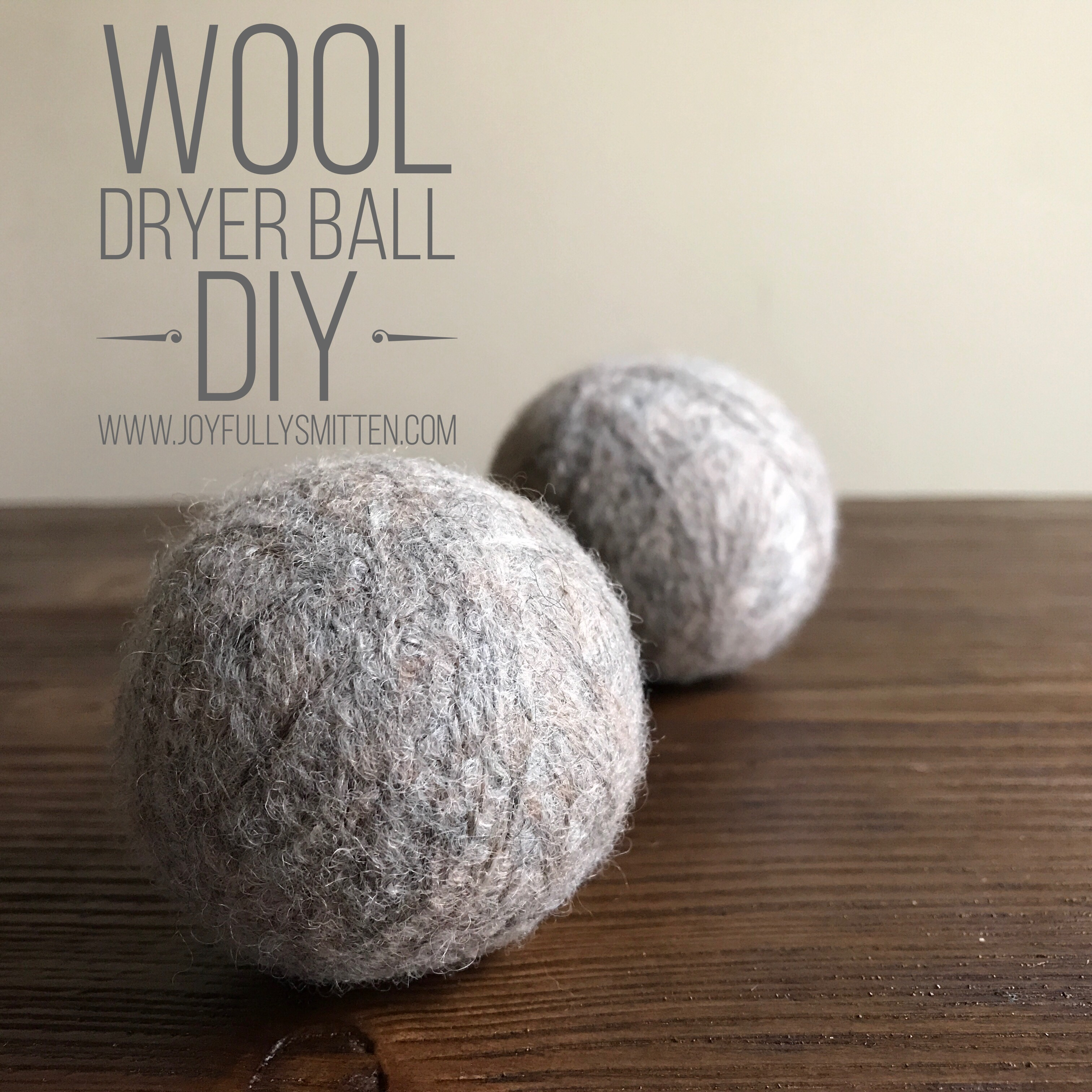 Wool Dryer Ball DIY