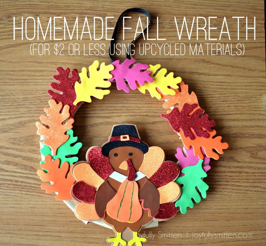 Upcycled Fall Wreath (for less than $2)