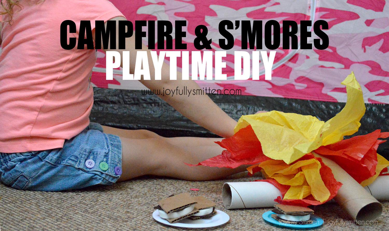 Upcycled S'mores & Play Fire Kids DIY