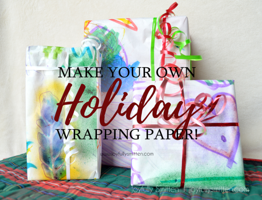 DIY Holiday Wrapping Paper + A Crayola Giveaway